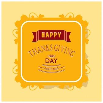 Cartão do dia de ação de graças feliz