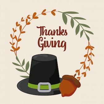 Cartão do dia de ação de graças