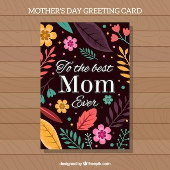 Cartão do dia de florida mãe
