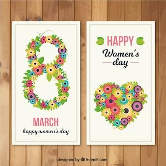 Cartão do dia de florida mulher
