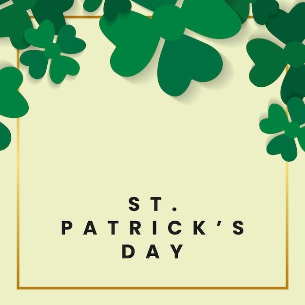 Cartão do dia de saint patricks