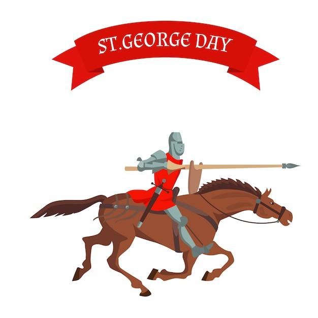 Cartão do dia de st. george.