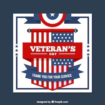 Cartão do dia de veterano americano