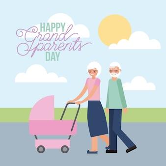 Cartão do dia do grandparenst
