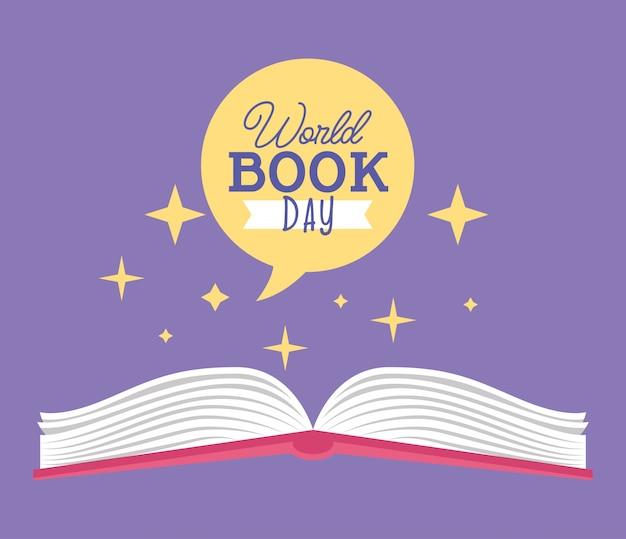 Cartão do dia do livro do mundo