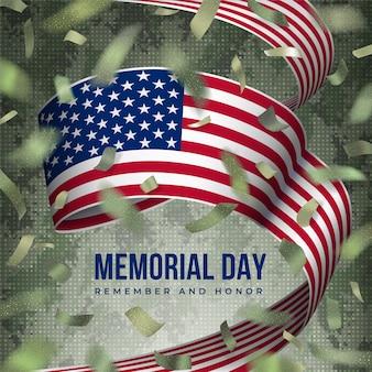 Cartão do dia do memorial dos estados unidos da américa