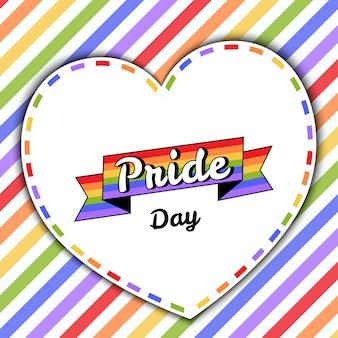 Cartão do dia do orgulho