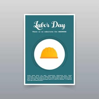 Cartão do dia do trabalho com design exclusivo e criativo