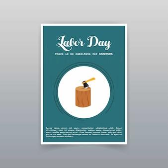Cartão do dia do trabalho com vetor design exclusivo e criativo