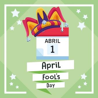 Cartão do dia dos enganados