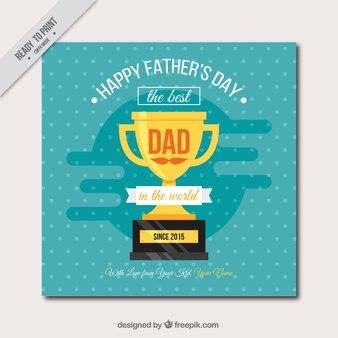 Cartão do dia dos pais com troféu