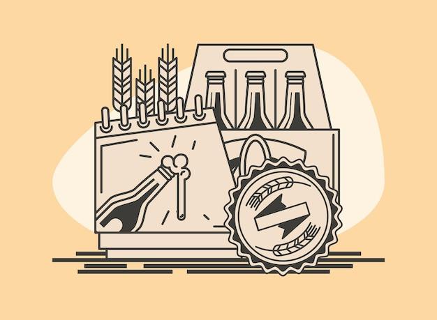 Cartão do dia internacional da cerveja