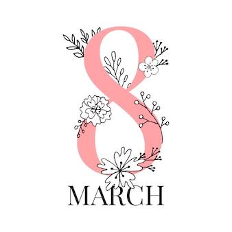 Cartão do dia internacional da mulher