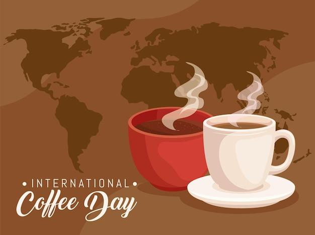 Cartão do dia internacional do café