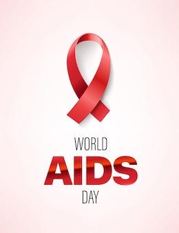 Cartão do dia mundial da aids