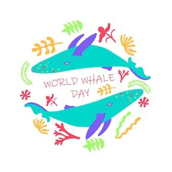 Cartão do dia mundial da baleia