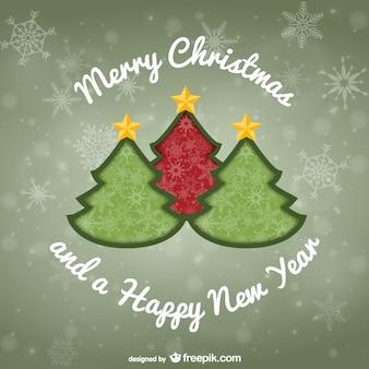 Cartão do feliz natal do vintage
