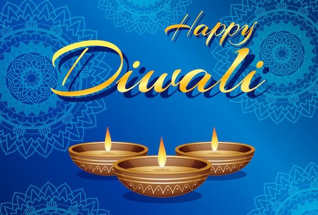 Cartão do festival de diwali