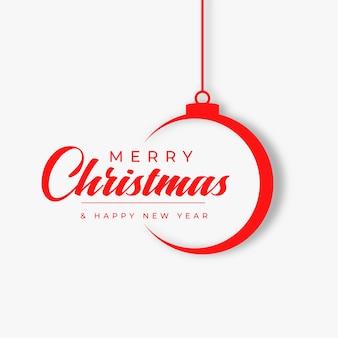 Cartão do festival de feliz natal estilo simples
