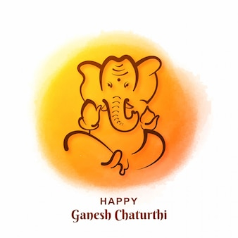Cartão do festival ganesh chaturthi