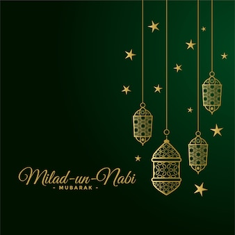 Cartão do festival islâmico milad un nabi