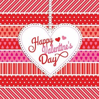 Cartão do fundo do valentim no estilo de papel