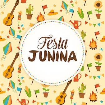 Cartão do junina de festa