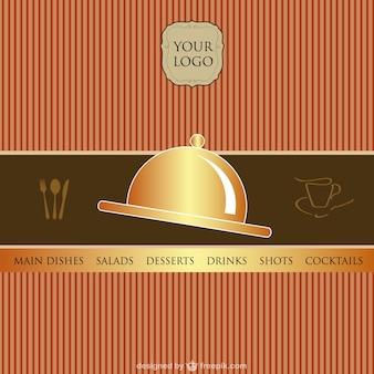 Cartão do menu do vetor