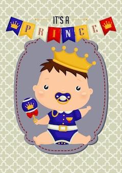 Cartão do príncipe do bebé