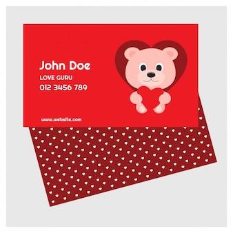 Cartão do valentim adorável