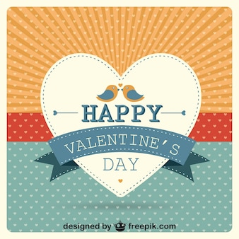 Cartão do vetor do dia dos namorados coração sunburst