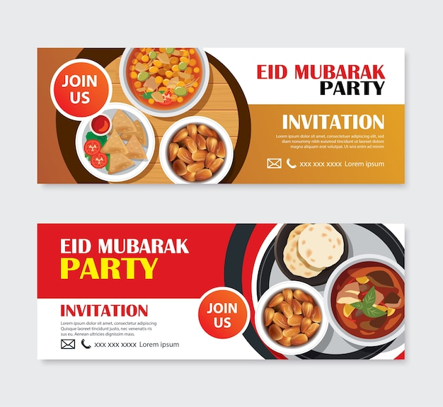 Cartão dos convites do partido de eid mubarak