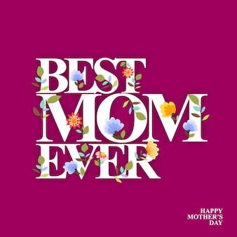 Cartão dos dias de mães
