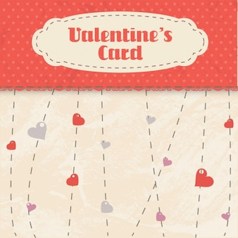 Cartão dos valentim no estilo do scrapbook