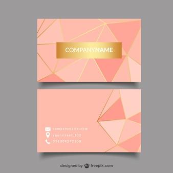 Cartão dourado e rosa