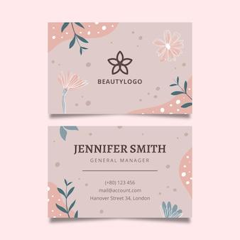 Cartão dupla face para salão de beleza