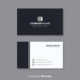 Cartão elegante com design abstrato
