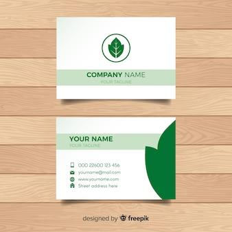 Cartão elegante com design da natureza