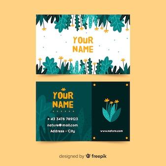 Cartão elegante com o conceito da natureza