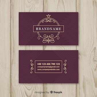 Cartão elegante de borgonha