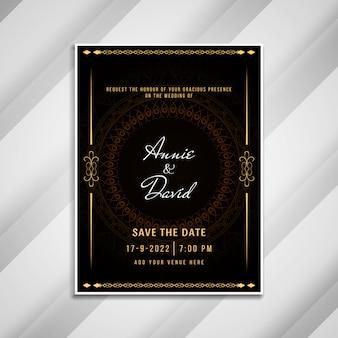 Cartão elegante do convite abstrato do casamento