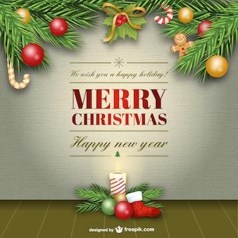 Cartão elegante do vetor feliz natal