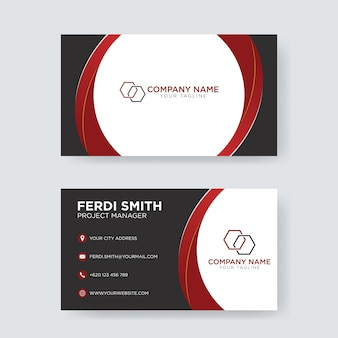 Cartão elegante preto vermelho