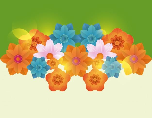 Cartão em branco floral frame