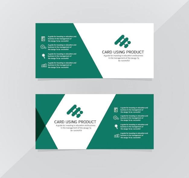Cartão empresarial moderno criativo cartão de visita e cartão de nome