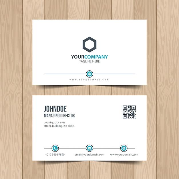 Cartão empresarial simples.