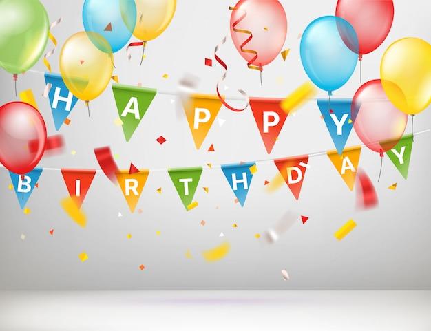 Cartão feliz aniversário
