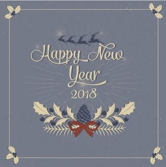 Cartão feliz ano novo