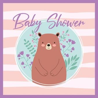 Cartão feliz do chuveiro de bebê