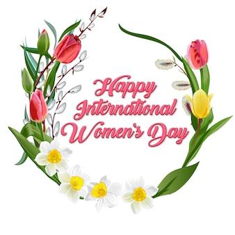 Cartão feliz do dia das mulheres s